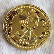 King ceolwulf 821 - 828 22 kt Placcato Oro Marchiato Argento PROOF MEDAGLIA 21 mm