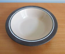 "Hornsea Coral Rimmed Cereal Soup Bowl Tan Brown 6 3/4"" Oven To Table England"