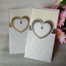 Wedding Invitations Silver / Gold Foil Card Insert Envelope Set 1/10/30/50 NEW