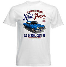 VINTAGE FRENCH CAR RENAULT TORINO REAL POWER - NEW COTTON T-SHIRT
