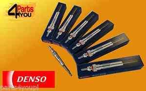 DENSO 6X GLOW PLUG BMW 5  SERIES E60 E61  2,5 3,0 D 525 530
