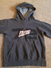 Youth NIKE Hooded Sweatshirt Gray w/White & Red Size Small (8) NICE!!