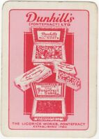 Playing Cards 1 Single Card Old Wide DUNHILLS Advertising Art CANDY SWEETS