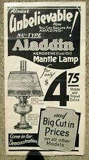 Vintage Aladdin Kerosene Mantle Lamp Advertising Booklet w/Pricing!