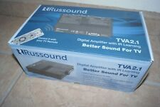 Russound TVA2.1 Slim-profile stereo TV amplifier with IR learning Unused n Box