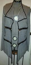 Clothing-Sweater Fontana NWT Black White Zippers Gold Large Jacket