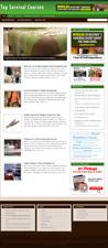 Survival Courses Niche Website Ready Made Affiliate Website Free Hosting Setup