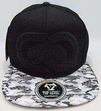 CALI BEAR Camo Snapback Cap Hat CA California Black Gray Camouflage OSFM NWT