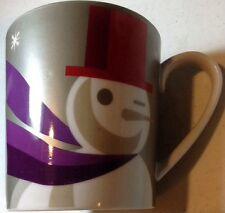 STARBUCKS WINKING SNOWMAN 16 OZ MUG Ceramic WHEN WERE TOGETHER 2011 EXCELLENT