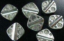 60 Pcs Tibetan Silver ornate square spacers 14mm FC309
