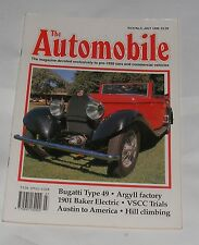THE AUTOMOBILE JULY 1990 - BUGATTI TYPE 49/1901 BAKER ELECTRIC/ARGYLL FACTORY
