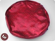 """VESPA/LAMBRETTA 10"""" Spare Wheel Cover Red Croc Skin"""