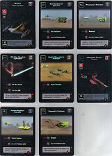 STAR WARS YOUNG JEDI MENACE SET OF 8 COMMON FOIL CARDS