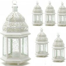 "Lot 6 Large Moroccan Style 15"" Tall Lantern Candle Holder Wedding Centerpieces"