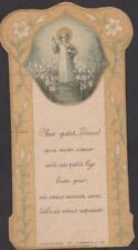 IMAGE PIEUSE SANTINI HOLY CARD DIVIN ENFANT JESUS DANS UN CHAMP DE LYS-TON SEPIA