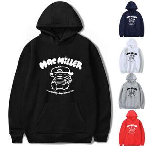 Unisex Rapper Malcolm Printed Hoodie MacMiller Casual Sweatshirt Hooded Pullover