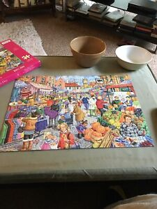 Market Day by Linda Birkinshaw Jigsaw Puzzle (250 LARGE Pieces) H.O.P.
