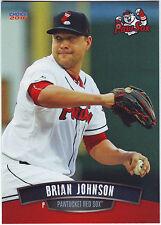 2016 & 2017 Choice Brian Johnson Pawtucket Red Sox - 2 Card Lot