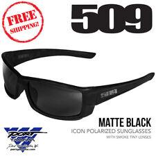 509 Icon Polarized Sunglasses Matte Black with Smoke Tint Lenses