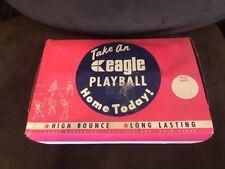 Vintage eagle Play Ball Hi bounce display box W/ 15 Black balls See Read
