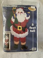 Bucilla Santa Claus Door Hanging Decoration Christmas Kit 5' Felt Craft Kit