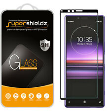 Supershieldz Full Cover Tempered Glass Screen Protector for Sony Xperia 1 -Black
