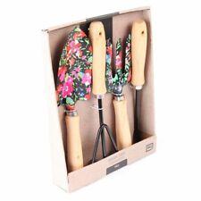 Handgefertigte Gartenwerkzeuge mit Blumenmustern, 4er Set Gartenutensilien aus M