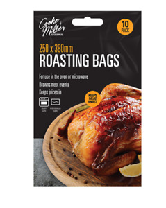 ROASTING BAGS 10 LARGE OVEN MICROWAVE MEAT CHICKEN FISH vegetables uk