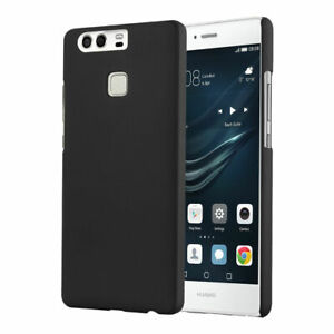 Phone Case For Huawei P9 Black Hybrid Hard Back Cover & Screen Protector UK