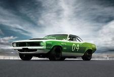 Incorniciato stampa-Dodge Challenger (PICTURE POSTER PORSCHE AUDI FERRARI ASTON auto)