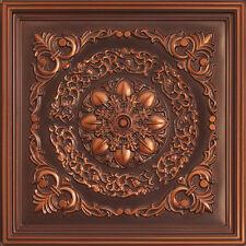 # 247 (Lot of 50) - Antique Copper PVC Decorative Ceiling Tile Glue-Up/Drop-In