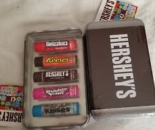Hershey's 5 piece Lip balm set in CUTE Collector's Tin
