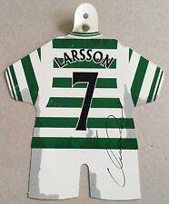 Henrik Larsson signed Celtic mini shirt souvenir UACC Registered dealer AFTAL