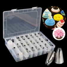 42Pcs Various Sizes Cake Icing Piping Nozzles Decorating Tip Bakery Pastry Tools