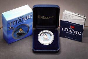 2012 Tuvalu Titanic 100th Anniversary 1oz .999 Silver Proof $1 Coin Perth Mint