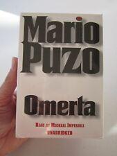 MARIO PUZO OMERTA UNABRIDGED AUDIO 6 CASSETTES, 2000, 10 HOURS, USA, NEW SEALED!