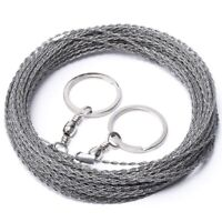 Outdoor Hand-Dn Rope Saw 304 Stainless Steel Wire Saw Camping Life-Saving W D2U7