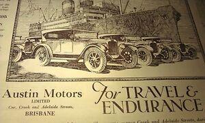 1927  AUSTIN & SINGER   Cars Australian Sales Advert RARE