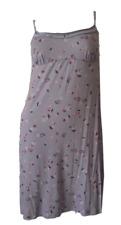 Ladies Lilac Floral Knee Length Nightie Nightdress Sizes 10 12