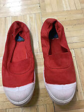 ***NEW*** Bensimon Tennis Shoes Red Slip- On Canvas