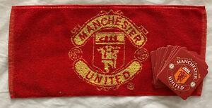 Manchester United Bar Towel & 10 Beer Mat Set