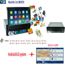 """GPS Single 1 Din 7"""" Android 6.0 Central Auto Car Stereo Radio Multimidia Player"""
