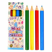1 / 6 / 12 PACKS OF MINI COLOURING PENCILS BOYS GIRLS BIRTHDAY PARTY BAG FILLERS