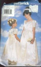 Butterick Sewing Pattern 5382 Girls Gown Size 2-4 Petticoat Party Dress