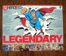 SUPERMAN DC HEROES RPG Promotional Poster 1986 Promo