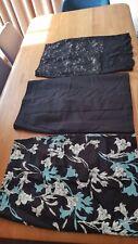 Bulk Lot Sz 14 Cue Portmans Skirts blue black satin floral lace