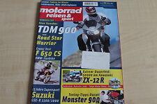 164772) Yamaha TDM 900 BMW F 650 CS TEST - Motorrad Reisen Sport 12/2001