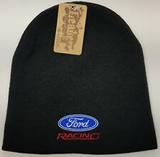 FORD Racing Embroidered Skull Beanie/ SKULL Beanie Hat Cap FORD RACING