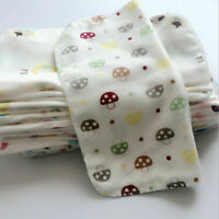 NICE 10Pcs Newborn Baby Cotton Handkerchief Towel Soft Gauze Bath Wash Towel Bib