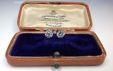 Antique Old European Cut Natural 1.91 CTW Diamond Platinum Stud Earrings